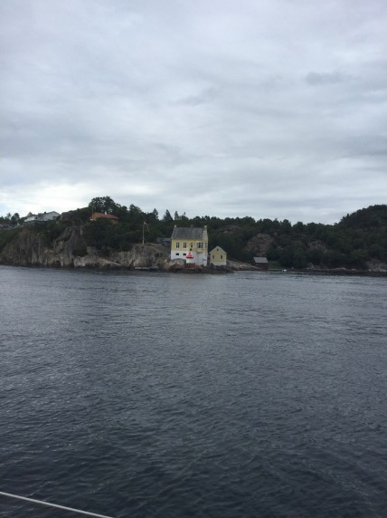 One of Norway´s pretty Lighthouses, this one on approach to Bergen