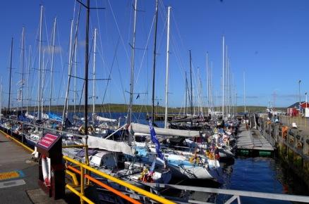 Norwegian boats in the Bergen Shetland race, Lerwick