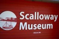 Scalloway Museum sign, Shetland
