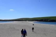 St Ninian's Isla and beach West Shetland 29 June