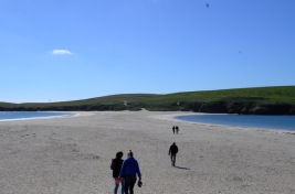 St Ninian's Isla and beach West Shetland 29 June