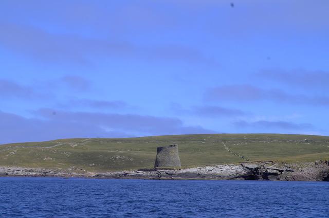The fine broch on Mousa Island, Shetland