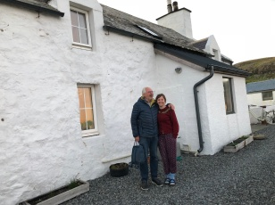 JOhna dn Claire White , Claire and Michaels home, East Quarff