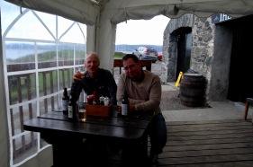 Stu and Fraser at Pub, Gigha