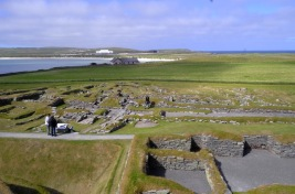 The Viking Settlement, adjacent to the Stone and Bronze Age settlements at Jarslhof, Shetland